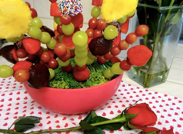 Spring Bouquet Cake with Fruit Filling