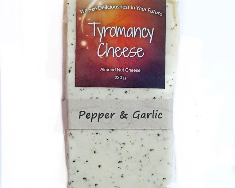 Cheese Natural (Plant Based): Pepper & Garlic (Havarti) - TC (Esky Required)