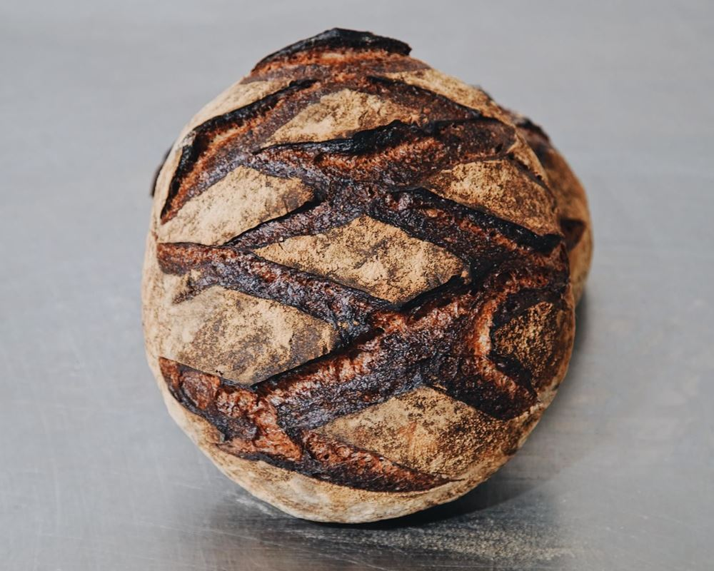 Bread Natural: Light Rye & Caraway Sourdough: Round - BF