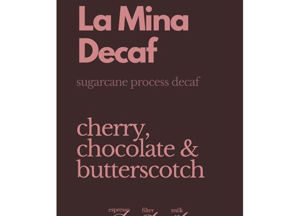 Coffee: Decaf La Mina (Whole Bean) 1kg - NP