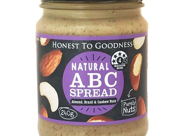 ABC Almond, Brazil & Cashew Spread Natural - HG