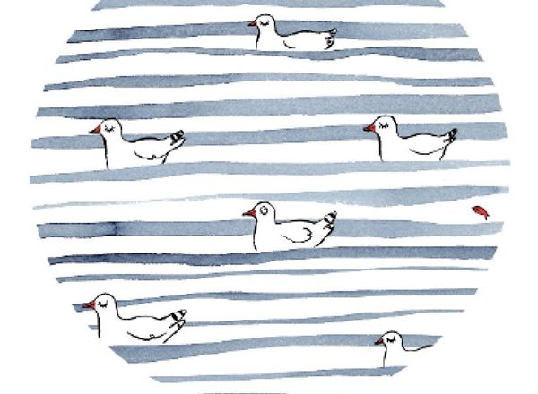 Greeting Card - Sea Stripes