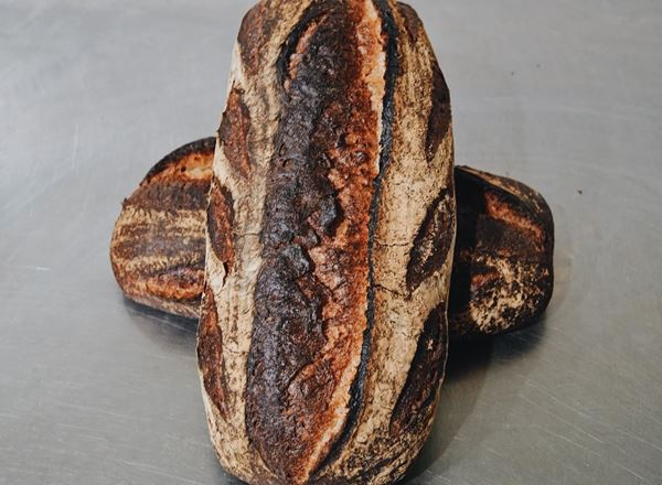 Bread Natural: Light Rye & Caraway Sourdough: Medium- BF