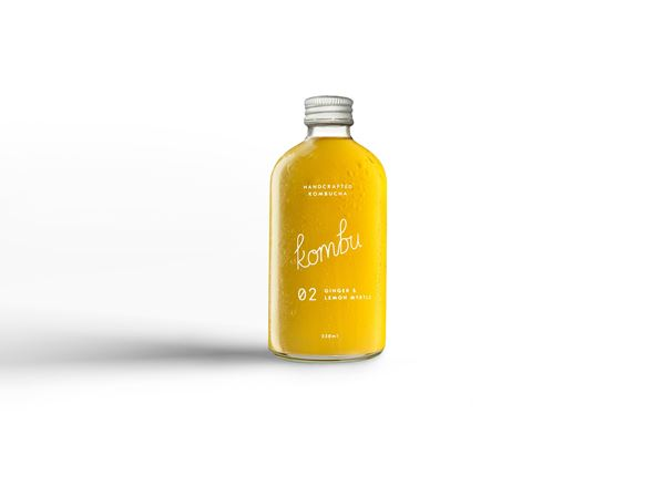 Kombucha Natural: Ginger & Lemon Myrtle - KK