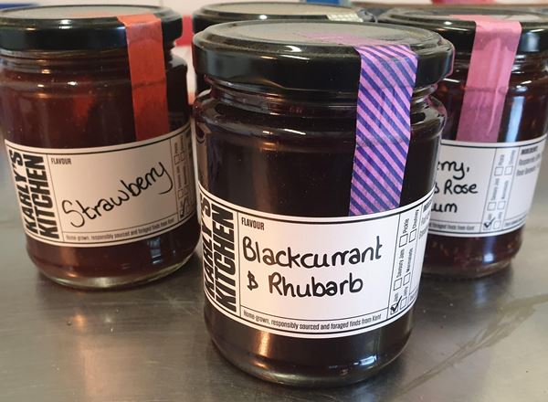 Blackcurrant and Rhubarb Jam