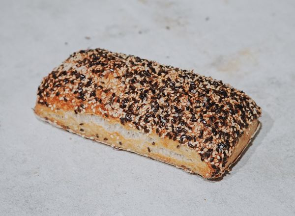 Bread Natural: Seeded Ciabatta Rolls: Rectangle- BF