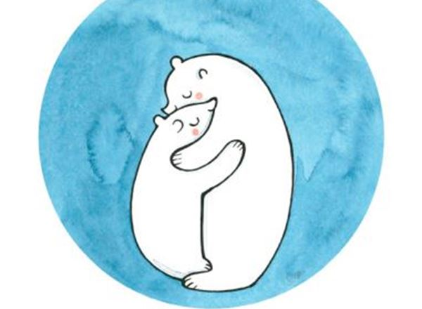 Greeting Card - Polar Bear Hug