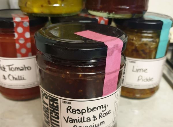 Raspberry, Vanilla and Rose Geranium Jam