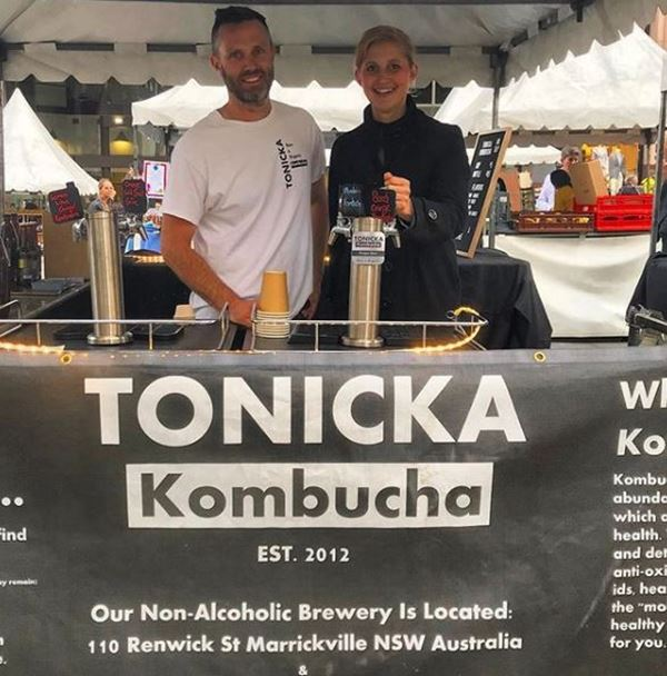 Jodie and Anthony from Tonicka Kombucha