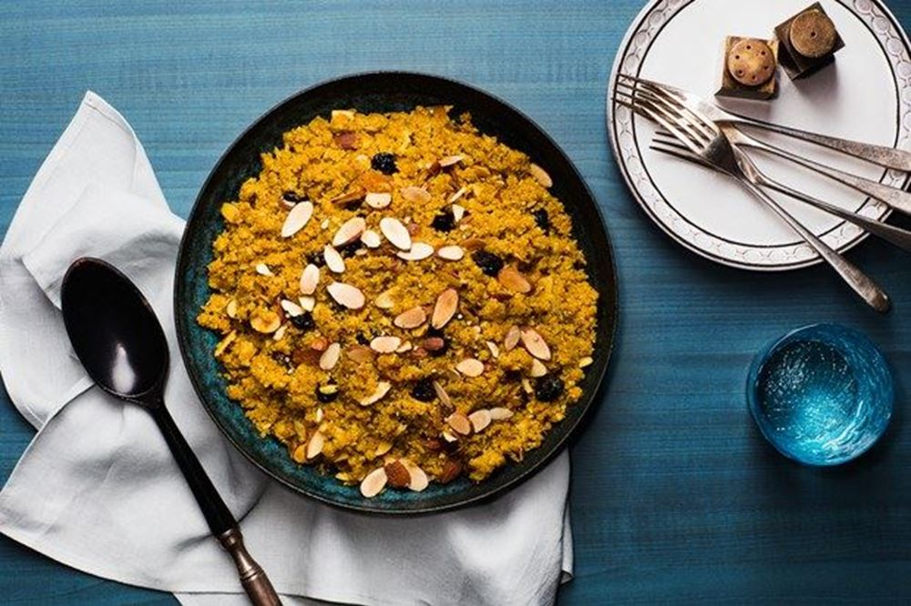 Cauliflower 'Couscous' With Dried Fruit and Almonds