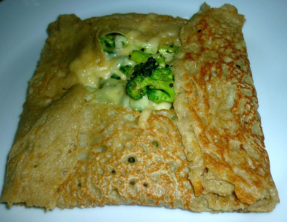 Buckwheat Galettes with Cheese and Broccoli
