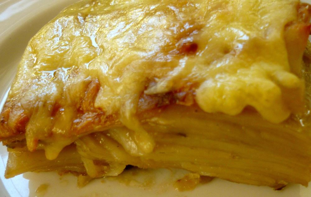 Potato, Onion and Cheese Gratin