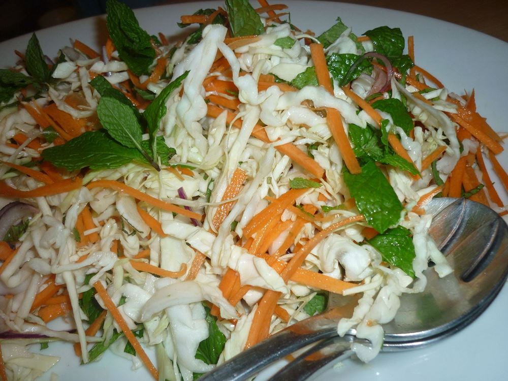 Vietnamese Style Cabbage and Mint Salad