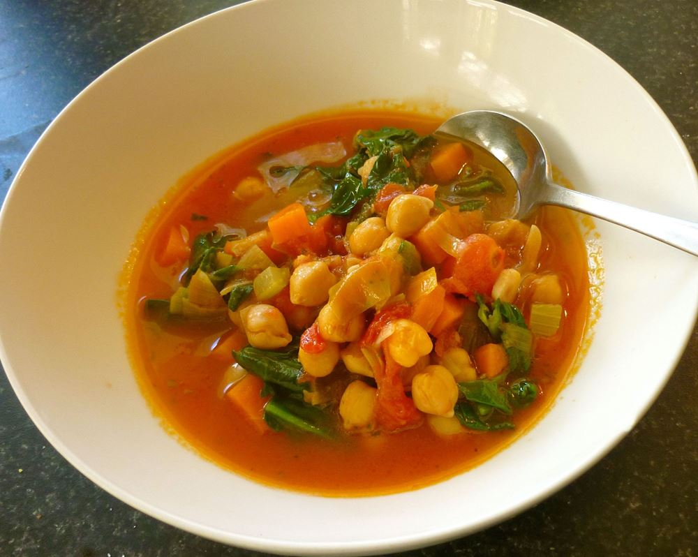 Cavolo Nero and Chickpea Soup