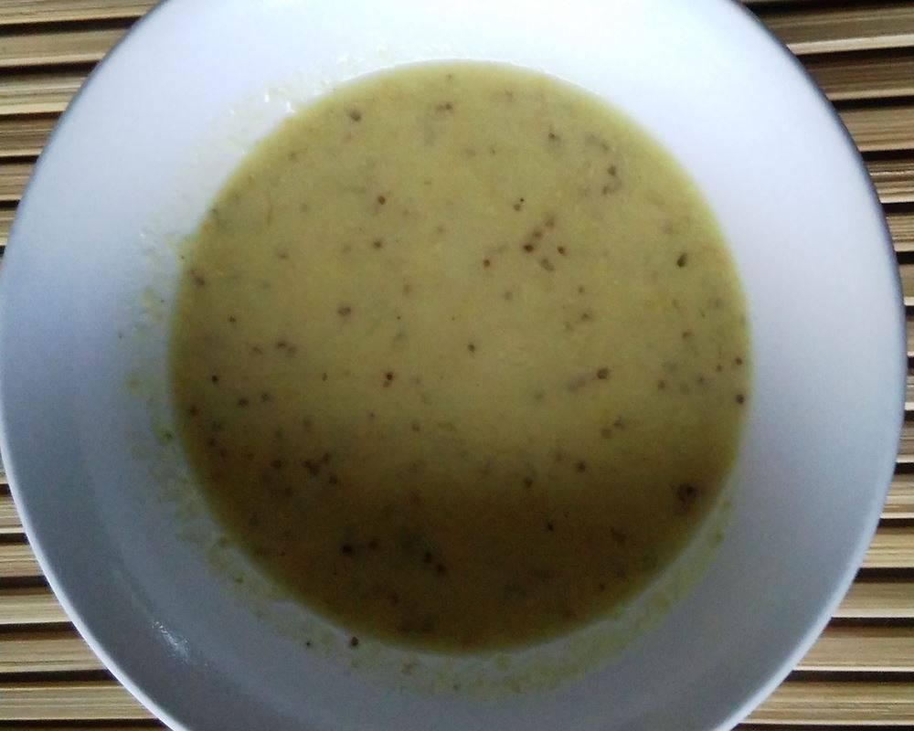 Dutch mustard leek soup