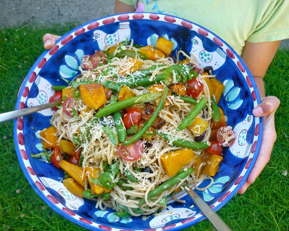 Summer Vegetable Spaghetti