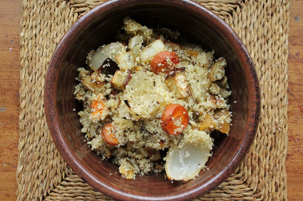 Roasted Rosemary Vegetables with Couscous