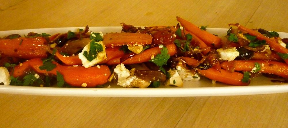 Roasted Baby Carrot, Olive and Feta Salad