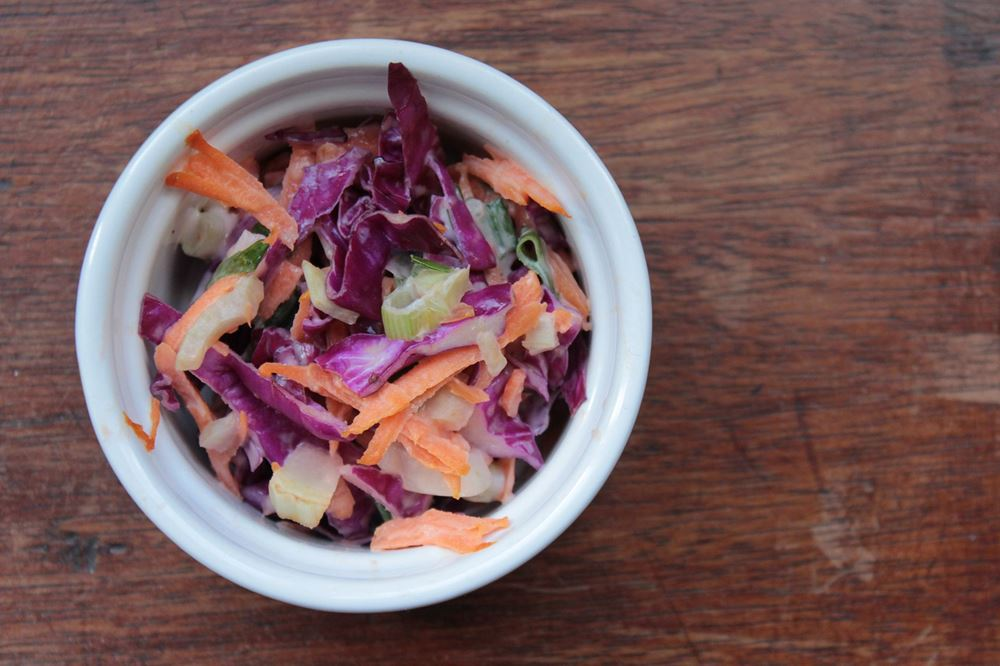 Cabbage and Carrot Coleslaw with Fennel