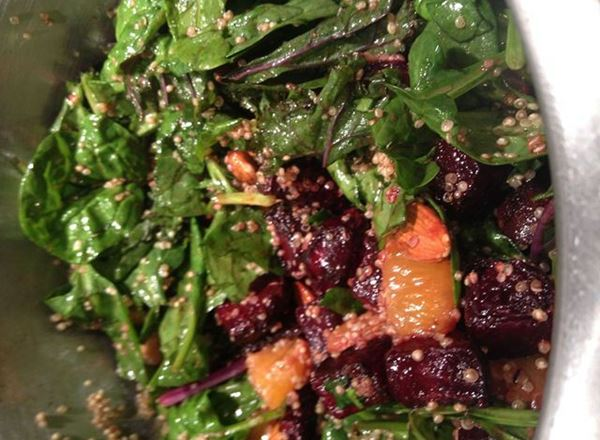 Roast Beetroot, Chickpea, Quinoa & Mandarin Salad