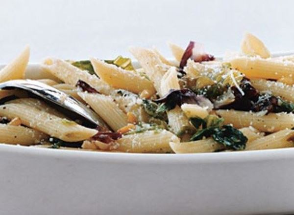 Penne With Garlicky Greens