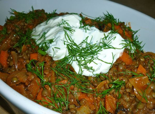 Turkish Carrots and Lentils