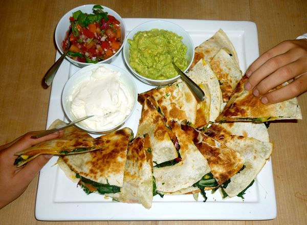 Buttercup Squash Quesadillas