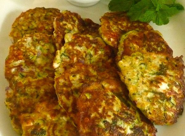 Turkish Courgette and Feta Fritters