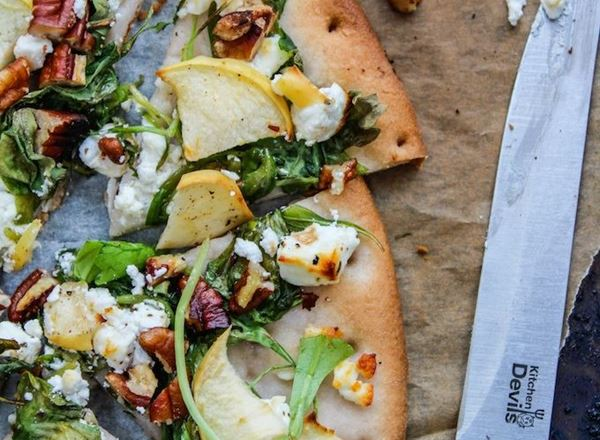 Arugula, Apple and Goat Cheese Flatbread