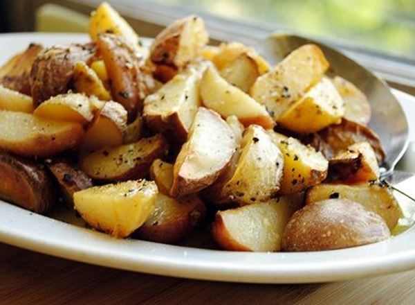 Crispy Greek Lemon Potatoes