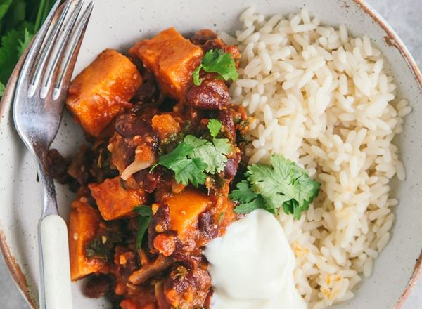 Sweet Potato and Kale Chili