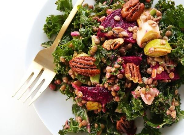 Kale, Lentil, and Roasted Beet Salad
