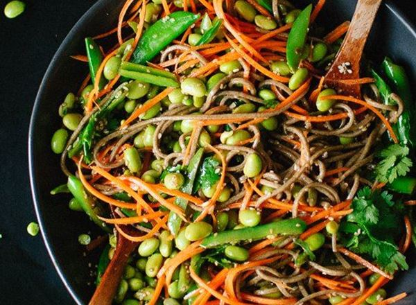 Snap Pea & Carrot Soba Noodles