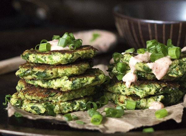 Zucchini and Kale Fritters