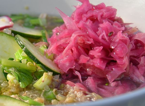 Sauerkraut or Lacto-Fermented Cabbage with Caraway Seed