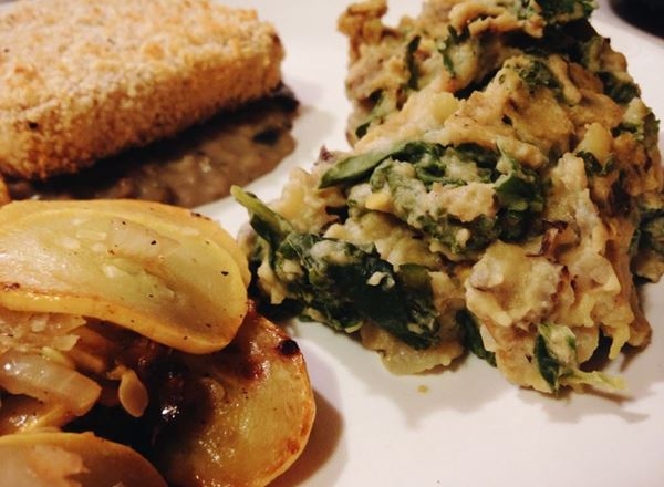 Vegan Sunchoke & Kale Mashed Potatoes