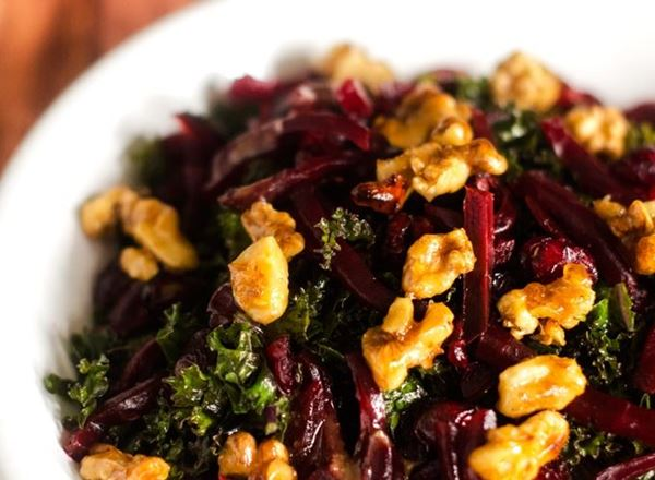 Kale, Beet, & Candied Walnut Salad
