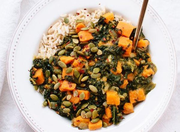 Coconut Curried Kale & Sweet Potato