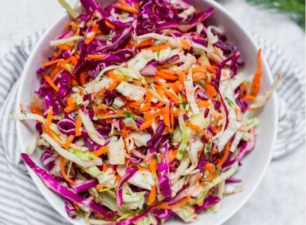 Easy Cabbage Dill Coleslaw