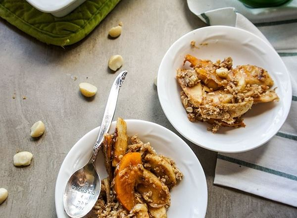 Persimmon Apple Crumble